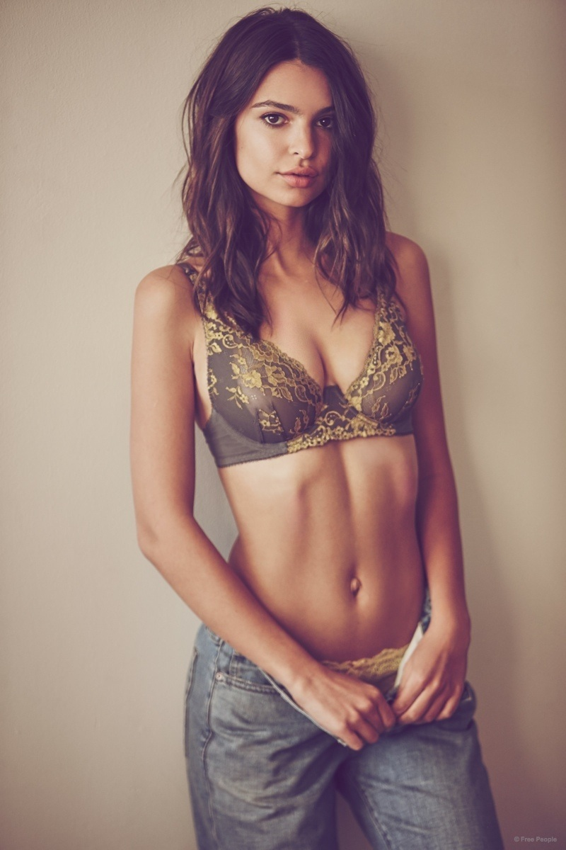 Emily Ratajkowski Underwear Free People Pictures Fashion