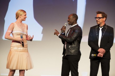 Don Cheadle Robert Downey Jr And Emily Vancamp At An Event For Captain America Civil War Emily Vancamp