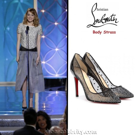 Emma Stone Christian Louboutin Body Strass Pumps Body