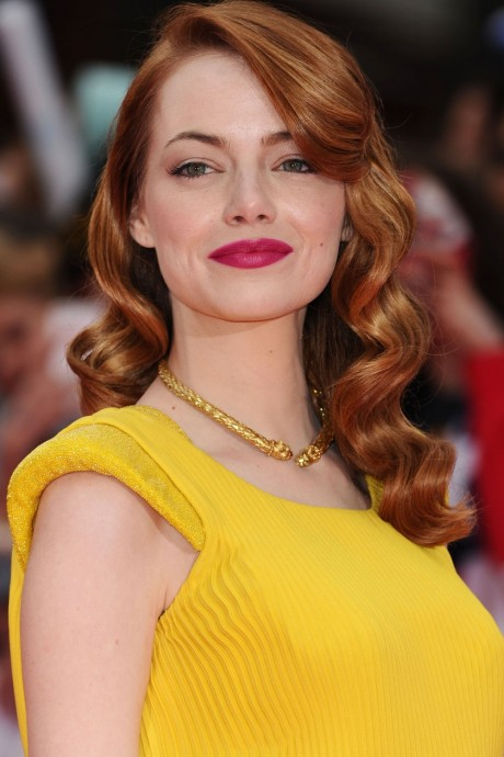 Emmastone The Amazing Spiderman Premiere Atelierversace Hair