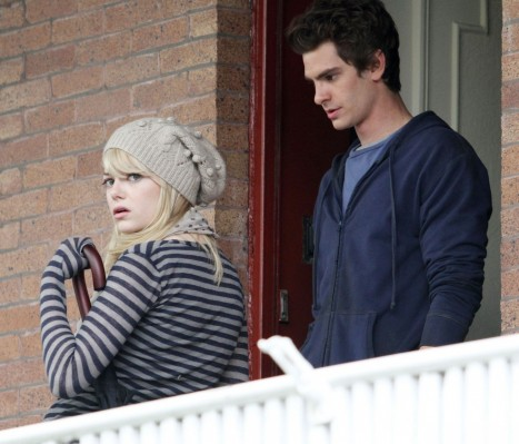 The Amazing Spider Man Set Andrew Garfield And Emma Stone Spiderman