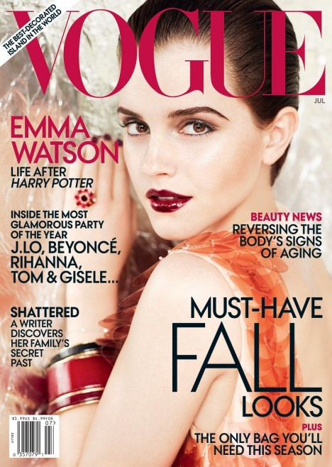 Emma Watson In Vogue Us July Cover High Def Fashion