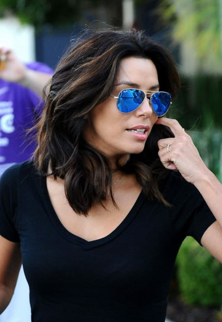Eva Longoria Leaving The Ken Paves Salon In West Hollywood January Eva Longoria