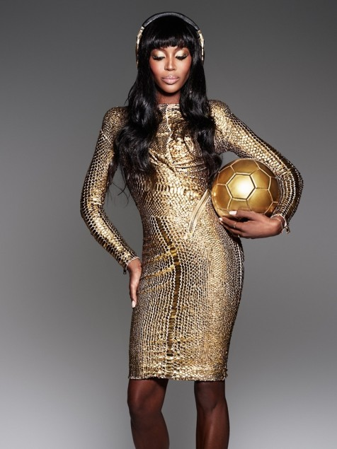 Naomi Campbell Showcases Beats By Dre Headphones For The German World Cup Team Naomi Campbell