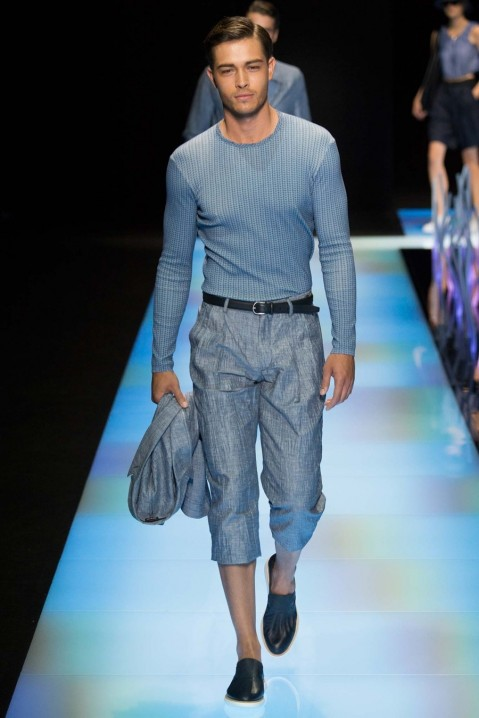 Giorgio Armani Spring Summer Menswear Francisco Lachowski Milan Fashion Week