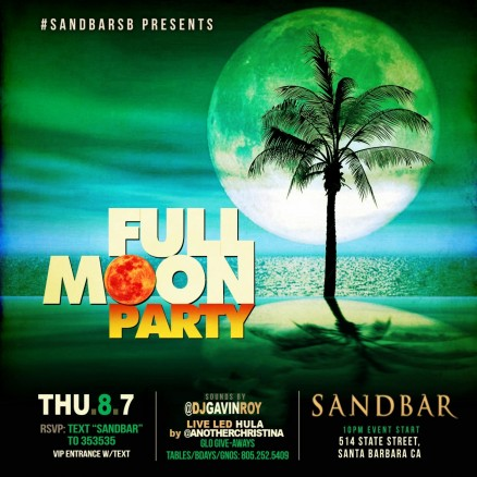 Full Moon Party Flyer Full Moon Party