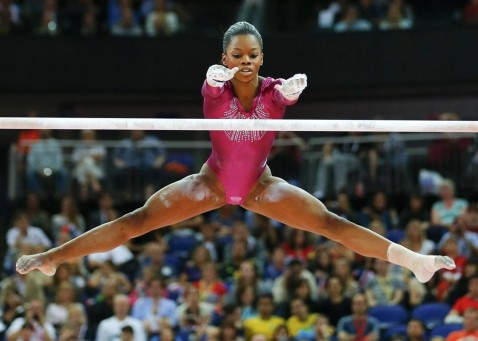 Gold Medal Winner Gabrielle Douglas Of The Us Perf Ad  Gabby Douglas