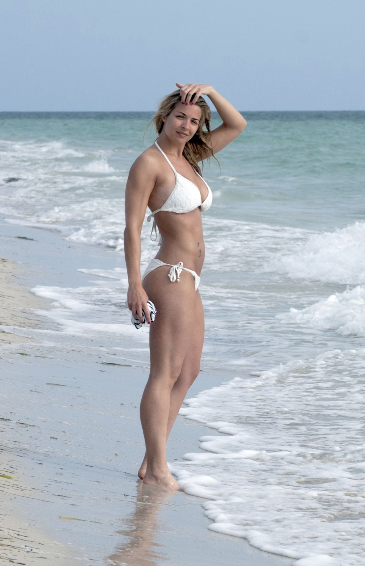 Gemma Atkinson Hot In White Bikini In Cuba July Gemma Atkinson