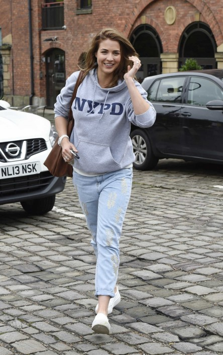 Gemma Atkinson Leaves The Key Radio Station In Manchester Gemma Atkinson