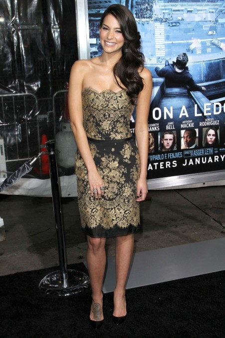 Genesis Rodriguez At Man On Ledge Premiere In Los Angeles Man On Ledge