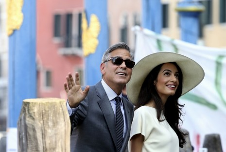 Actor George Clooney His Wife Amal Alamuddin Arrive Venice City Hall Civil Ceremony George Clooney