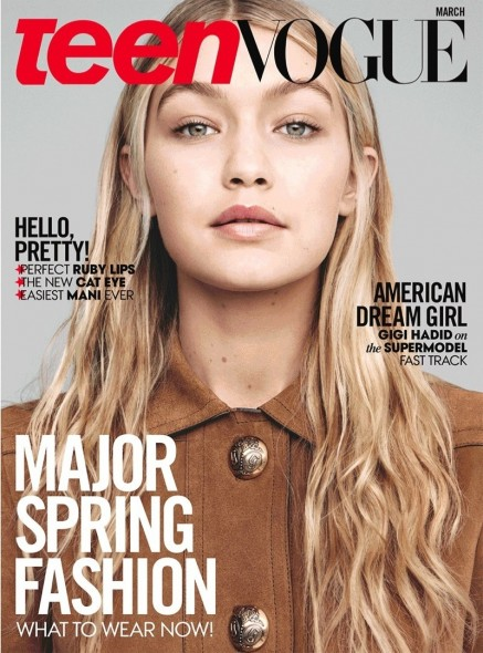 Gigi Hadid Teen Vogue March Cover Background