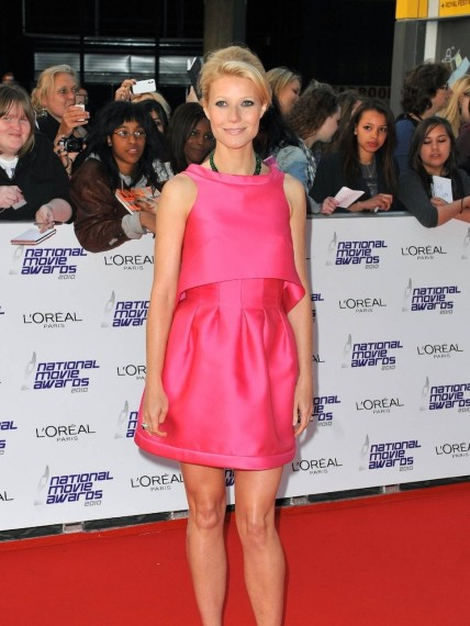 Gwyneth Paltrow Pink Retro Min Dress