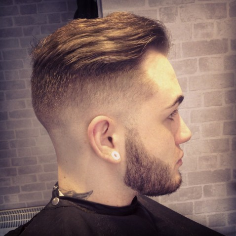 Comb Over Mohawk Faded Hairstyles For Men Undercut