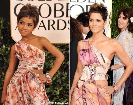 Halle Berry Golden Globes Daughter