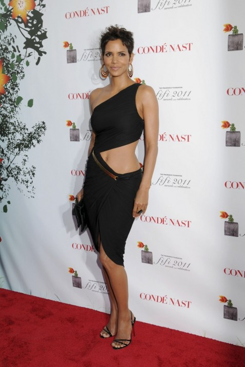Halle Berry One Shoulder Dress Body