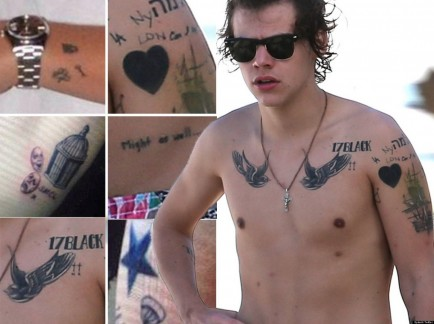 Harry Styles Tattoo Preview Facebook Body