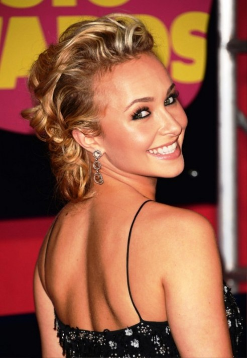 Hayden Panettiere Bobby Pinned Updo Hairstyles Wedding