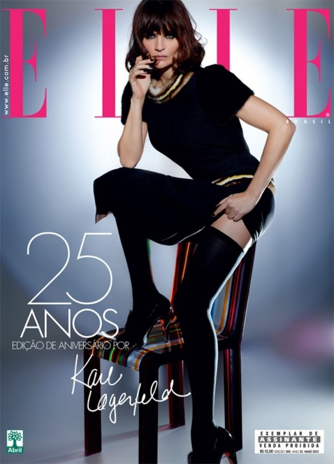 Helena Christensen In Elle Magazine Brazil May Issue