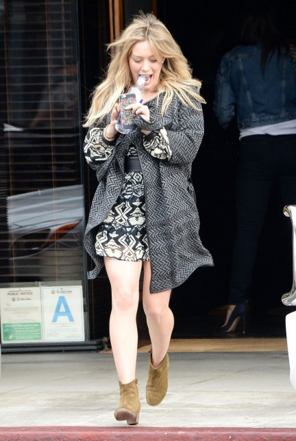 Hilary Duff In Dress Out In West Hollywood Dec Hilary Duff