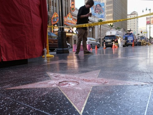 Donald Trump Hollywood Walk Of Fame Star Smashed Efc Hollywood