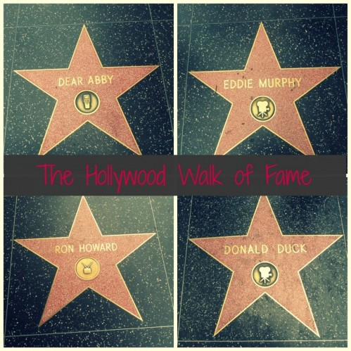 The Hollywood Walk Of Fame Hollywood