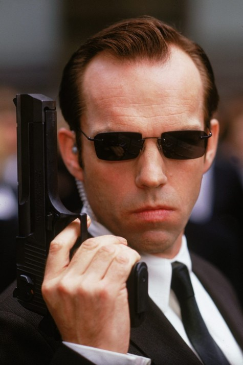 Hugo Weaving As The Relentless Agent Smith Hugo Weaving