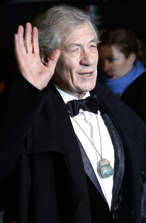 Actor Ian Mckellen Arrives Royal Premiere Film Hobbit Unexpected Journey Central London Ian Mckellen