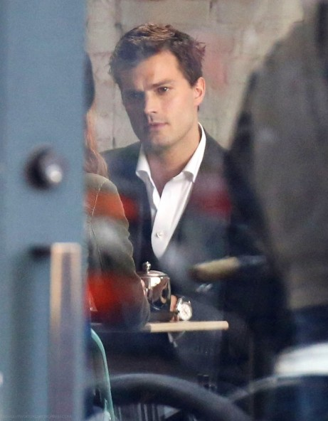 Dakota Johnson And Jamie Dornan Film Fifty Shades Of Grey In Vancouver