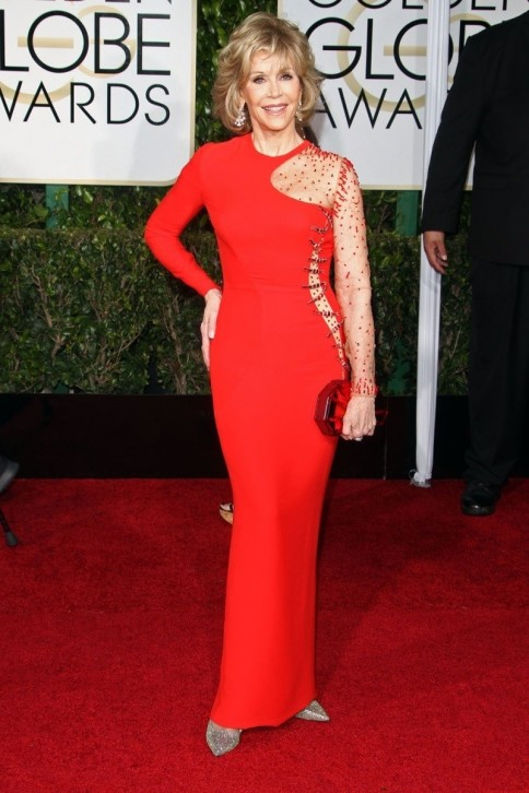 Golden Globes Helen Mirren Jane Fonda Were The Most Ravishing In Red Gallery Jane Fonda