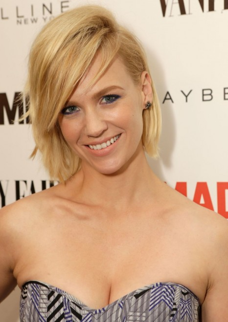 January Jones At Vanity Fair And Maybelline Toast To Mad Men In Los Angeles