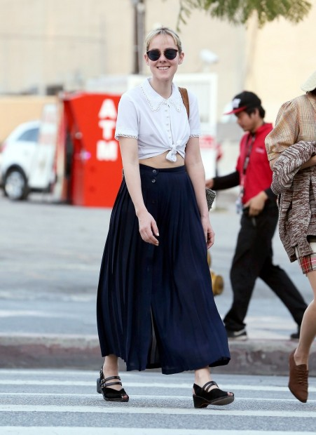 Jena Malone In Long Skirt Out In Los Angeles March Jena Malone