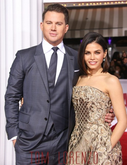 Channing Tatum Jenna Dewan Tatum Hail Caesar Movie Premiere Red Carpet Fashion Raph Russo Zegna Tom Lorenzo Site Jenna Dewan Tatum