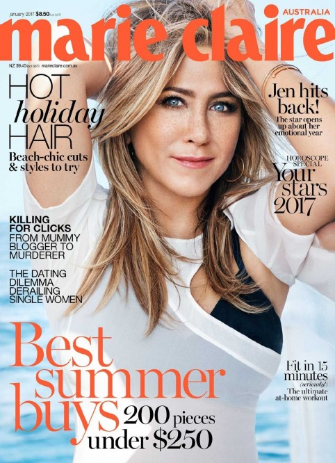 Jennifer Aniston Marie Claire Australia January Jennifer Aniston