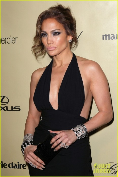 Jennifer Lopez Casper Smart Golden Globes Parties