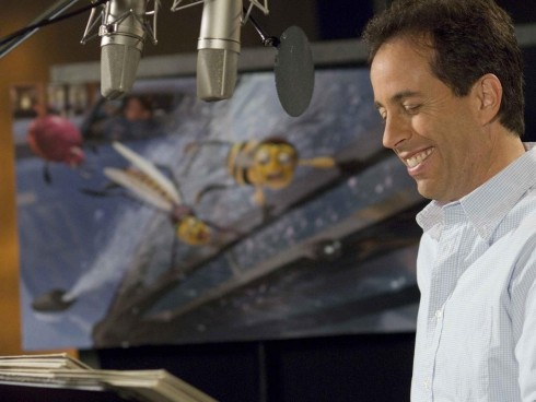 Jerry Seinfeld Behind The Scenes As Barry Benson Wallpaper