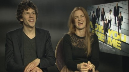 Isla Fisher And Jesse Eisenberg Interview Isla Talks About Her Near Death Experience During Filming Tv
