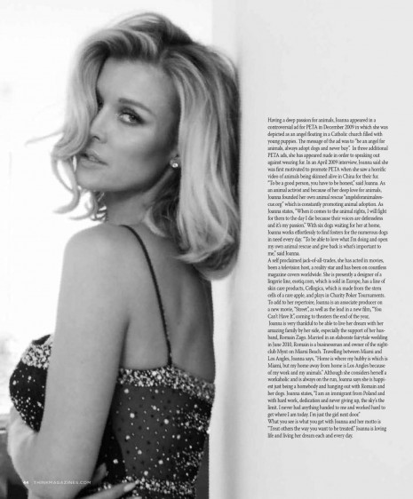 Joanna Krupa Think Magazine March