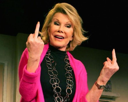 Joan Rivers Middle Finger Joan Rivers