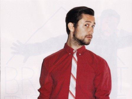 Joseph Gordon Levitt Red Shirt Photoshoot Wallpaper Wallpaper