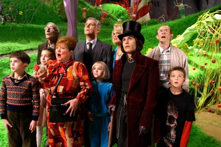Still Of Johnny Depp James Fox Adam Godley Freddie Highmore David Kelly Missi Pyle Franziska Troegner Julia Winter And Jordan Fry In Charlie And The Chocolate Factory Large Picture