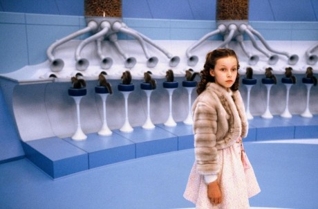 Still Of Johnny Depp Julia Winter And Veruca Salt In Charlie And The Chocolate Factory Large Picture Movies