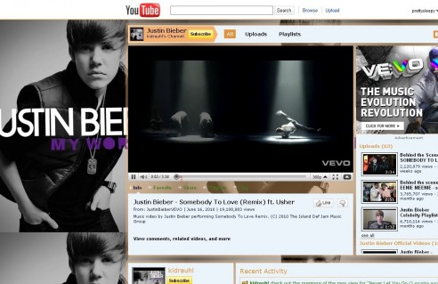 Justin Bieber Youtube Music