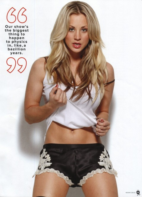 Kaley Cuoco Maxim Magazine Hot
