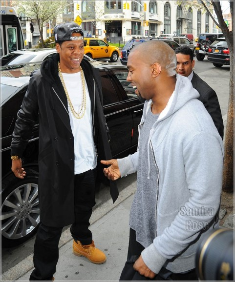 Jay And Kanye West In Soho Spl
