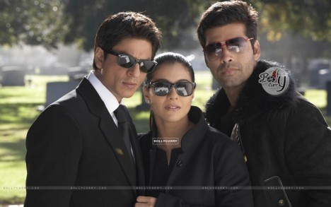 Still Of Shahrukh Kajol And Karan Johar Karan Johar
