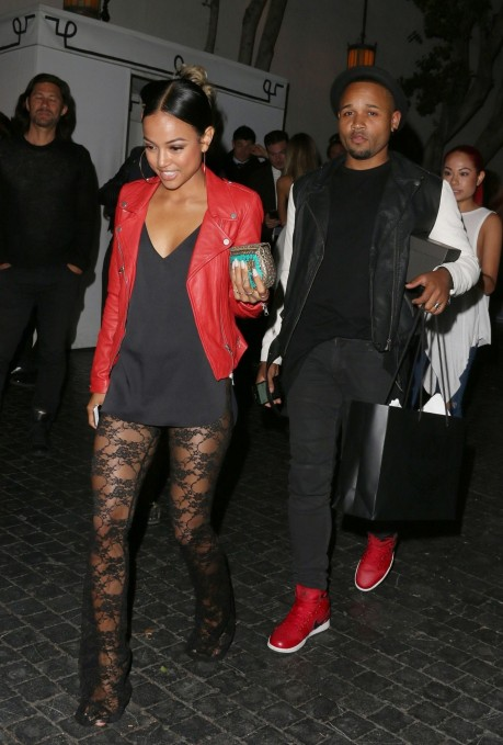 Karrueche Tran Night Out Style Leaving Chateau Marmont In West Hollywood April Karrueche Tran