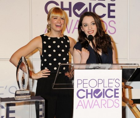 Kat Dennings And Beth Behrs At People Choice Awards Nominations In Beverly Hills