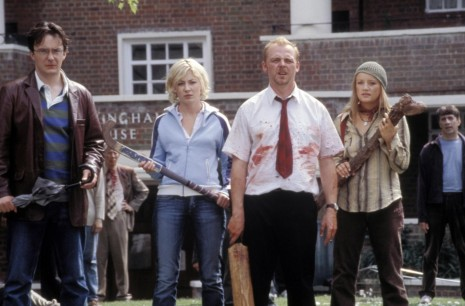 Still Of Kate Ashfield Lucy Davis Dylan Moran And Simon Pegg In Shaun Of The Dead Lucy Davis The Office