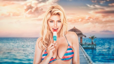 Kate Upton Summertime Hd Desktop Wallpaper Widescreen High Funny Summertime Wallpaper Wallpapers For Facebook Hd Download Pictures Iphone Android Sayings New Santa Banta Beach